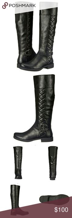 "Coming 12/3 LifeStride Marvelous Black Riding Boot Price will be $70  These Womens LifeStride Marvelous Riding Boots are guaranteed authentic. They're crafted with Man Made/Fabric, and the closure is Side Zipper.  Synthetic Imported Synthetic sole Shaft measures approximately 15.5"" from arch Heel measures approximately 1"" Life stride soft system with active arch technology  Flexible sole Stylish all day comfort Life Stride Shoes Combat & Moto Boots"