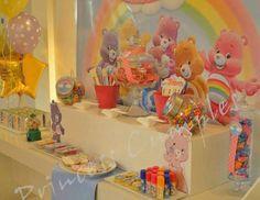 Care Bear Party Ideas for a Girl Birthday Girls First Birthday Cake, Care Bear Birthday, Care Bear Party, Kids Birthday Themes, 4th Birthday Parties, Baby Birthday, Baby Shower Oso, Baby Shower Themes, Bob Marley