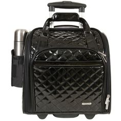 This carry-on is uniquely dome-shaped to provide easy access and a comfortable foot rest when in flight.