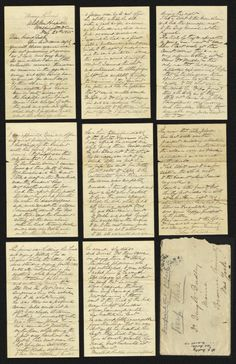 Original, handwritten account by Dr. Leale of what he encountered when he arrived in the President's Box at Ford's Theatre