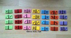 un joli jeu de Dominos et la boîte plein de couleurs mes filles adorent... pour le jeu de 28 dominos: 1540 perles prix de vente terminé:...