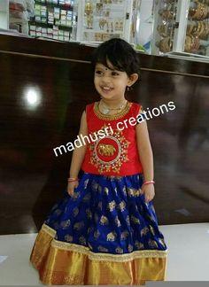 pretty Indian attire for girls Kids Dress Wear, Kids Gown, Dresses Kids Girl, Kids Outfits, Baby Lehenga, Kids Lehenga Choli, Anarkali, Sarees, Baby Girl Dress Patterns