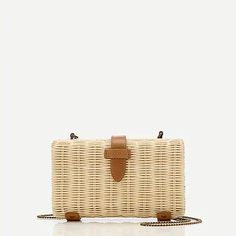Shop J.Crew for the Rattan clutch with chain strap for Women. Find the best selection of Women Handbag & Wallet Accessories available in-stores and online. J Crew Outfits, Basket Bag, Clothes For Sale, Sale Items, Rattan, Women's Accessories, Handbags, Vacation, Purses