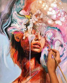 Abstract Portrait, Portrait Art, Kreative Portraits, Ap Art, Arte Pop, Diy Canvas Art, Art Portfolio, Art Drawings Sketches, Art Sketchbook