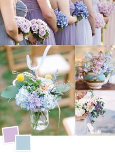 Lilac and dusty blue wedding colors  #Lavender , purple, light blue, palate  TheKnot.com