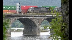 12R Meets Two Trains, Rockville Bridge and Enola Yard - YouTube Norfolk Southern, Trains, Bridge, Yard, Videos, Youtube, Patio, Bridge Pattern, Bridges