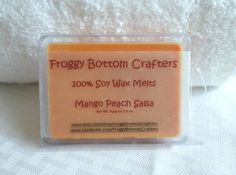 Mango Peach Salsa 100 Soy Wax Melts Soy by FroggyBottomCrafters, $3.00
