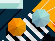 Material Design Illustration Series - Noon by Daniel Tan #Design Popular #Dribbble #shots