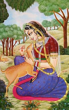 Srimati Radharani, The Supreme Goddess Of Fortune.