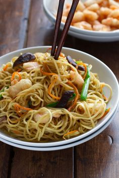 How to make pei wei shrimp lo mein food recipes food porn asian food food recipes foodie shrimp lo mein