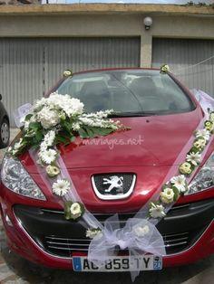 * Décoration florale voiture *