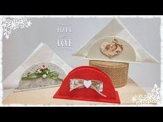 Porta tovaglioli da tavolo in feltro: veloce & senza cucire - YouTube Felt Case, Dyi, My Favorite Image, Xmas, Christmas, Felt Crafts, Sewing Projects, Napkins, Baby Shower