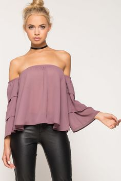 A'GACI | Ruffle Off Shoulder Top | #Agaci