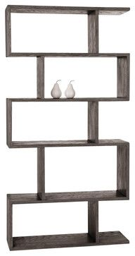 Carmine Bookshelf, Gray Limed Oak By Arteriors - modern - bookcases cabinets and computer armoires - Masins Furniture
