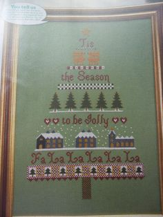 CROSS STITCH CHART - CHRISTMAS SAMPLER