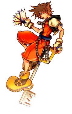 Sora - Kingdom Hearts: Chain of Memories Concept Art