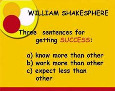 Three sentences for getting SUCCESS