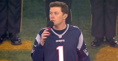 The life-long Patriots fan sang the national anthem at the Patriots-Chiefs game on Jan. Country Music Stars, Country Singers, Chiefs Game, Singing The National Anthem, Patriots Fans, Scotty Mccreery, Cute Guys, Role Models, Musicians