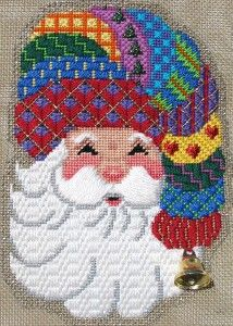 A wonderful use of so many patterns on a small ornament. Oak Tree - (Stitched by Paula Fehleison) from the French Knot~Happy Faced Santa~Fun To Stitch~ Needlepoint Designs, Needlepoint Stitches, Needlepoint Canvases, Needlework, Plastic Canvas Christmas, Plastic Canvas Crafts, Plastic Canvas Patterns, Cross Stitching, Cross Stitch Embroidery