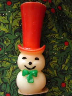 Gurley Snowman Candle.    Vintage Christmas my weakness...