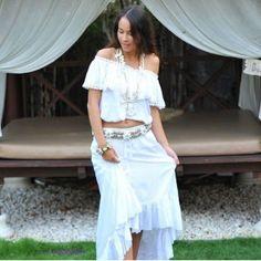 Hot Lava - SK - skirt - white