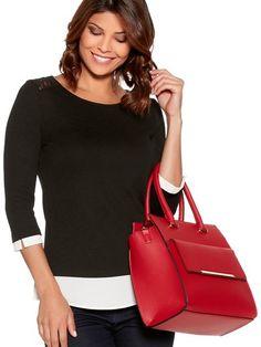 Bar Trim Tote Bag   Women's Bags   M&Co.