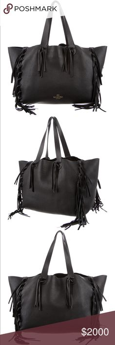 Valentino C-rockee Fringe Tote Like new condition. Comes with dust bag and shopping bag from barneys. Valentino Bags Totes