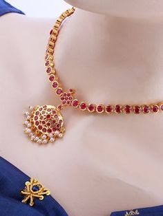 Wedding Attigai Necklace Set Jewellery