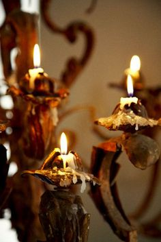 For to be carnally minded is death, but to be spiritually minded is life and peace. [Romans 8:6]  (French Candelabras)