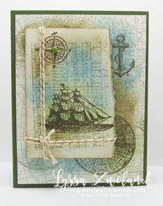 The open sea masculine nautical birthday card stampin up