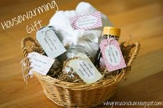 Housewarming Gift Basket: Bread - That this house may never know hunger. Salt - So you'll never find yourself in a pinch. Candle - So you will always have light in the darkness. Honey - For a sweet life in your new home.