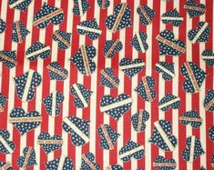 Patriotic Fabric Americana Fabric By The by NeedlesnPinsStichery Flag Quilt, Patriotic Quilts, Quilt Blocks, Blue Quilts, Fourth Of July, Sewing Projects, I Shop, Cotton Fabric, Trending Outfits