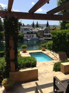 A swim spa pool with a view in sunny California! SwimEx resistance pools offer the ultimate in relaxation and fitness!