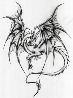 Dragon - - My list of the most creative tattoo models Body Art Tattoos, Tattoos, Animal Drawings, Art Tattoo, Tattoos For Women, Dragon Tattoo Designs, Dragon Sketch, Dragon Art, Tattoo Designs