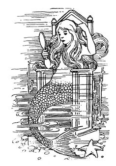 ☮ American Hippie Art ~ Coloring Pages .. Mermaid