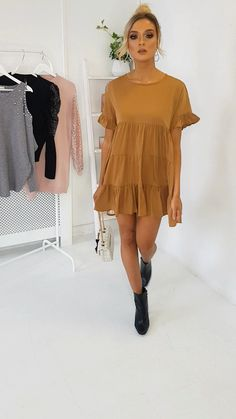 Milly Frill Shift Dress at ikrush Hoco Dresses, Dress Outfits, Casual Dresses, Fashion Dresses, Summer Dresses, Babydoll Dress Outfit, Shift Dress Outfit, Shift Dresses, Dress And Heels
