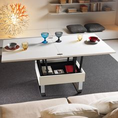 Designs for Small Spaces: Transformable Coffee Tables - Core77