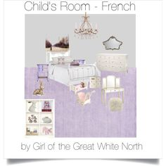 Child's Room - French by girlofthegreatwhitenorth on Polyvore featuring polyvore, interior, interiors, interior design, home, home decor, interior decorating, Pottery Barn, Pier 1 Imports and Sterling Industries