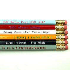 "love these ""know it all"" pencils. so would the kiddos."