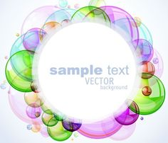Romantic Abstract Soap Bubbles Background Vector
