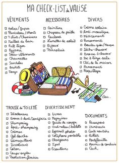 faire sa valise infographie - Google Search