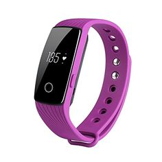 DAEON iDN107HR Series Heart Rate Fitness Activity Tracker Smart Watch OLED Screen Smart Bracelet Cellphone Finding Loss Prevention and Sedentary Reminder Purple *** Click image for more details.