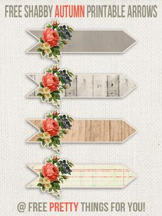 Free Images Shabby Arrows_2_FPTFY_1 free images,that beautifully  fit this gorgeous autumn season were having!  This is the second set of shabby autumn printable arrows and this time they come in 4 different version including a solid vintage grey,  distress wood planks, vintage brown wood and in a distress vintage lined paper.