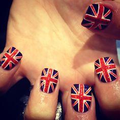 wah nails. glitter union jack.