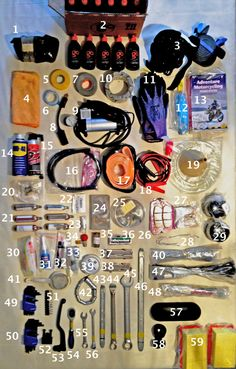 tool, tools, tool kit, packing list, gear, motorcycle, adventure, travel, trip, what to take, what do I need, spares, dual sport, tool roll, spanners, BMW, F800GS, GS,