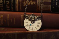 Clock face necklace on etsy