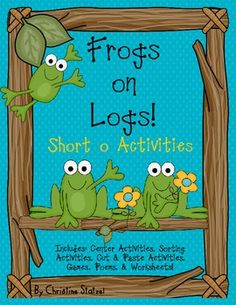 Frogs on Logs {short o activities} Phonics Reading, Teaching Phonics, Teaching Kindergarten, Teaching Ideas, First Grade Classroom, Primary Classroom, Classroom Ideas, Reading Resources, Writing Activities