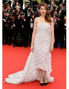 Laetitia Casta wears Christian Dior spring/summer 2014 couture to the opening ceremony and Grace of Monaco  premiere during the 67th Annual Cannes Film Festival.
