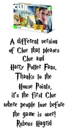 Harry Potter Clue - Fun family game recommended by my family and by Hagrid. #harrypotter #clue
