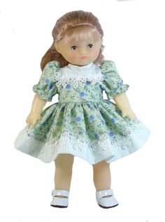 Stripes and Flowers Dress fits Goodfellow and Carolle Dolls